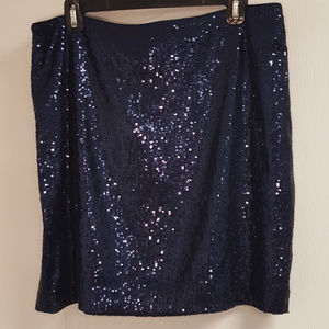 Piperlime Collection Blue Sequin Pencil Skirt